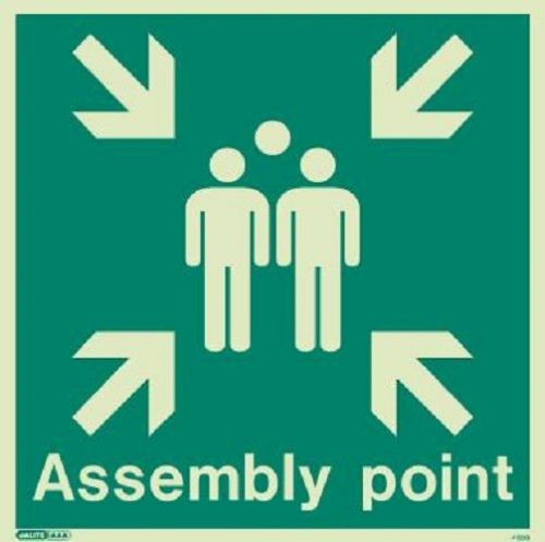 (4128) Jalite Assembly point Sign
